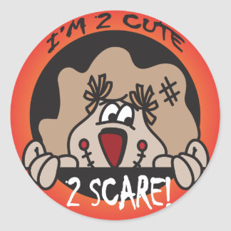 I'm too Cute to Scare | Halloween Classic Round Sticker
