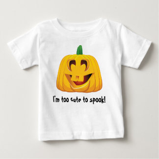 I'm Too Cute to Spook - Baby's Halloween T-Shirt