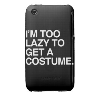 I'M TOO LAZY TO GET A COSTUME iPhone 3 Case-Mate CASES