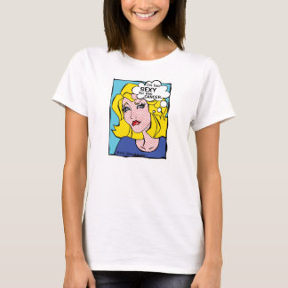 """""""I'm too Sexy for this Cancer"""" Pop Art Girl T-Shirt"""