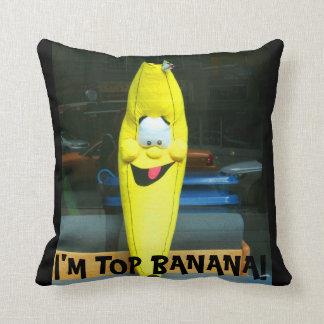 """""""I'M TOP BANANA! LARGE FAMILY PILLOW-BIG BANANA THROW PILLOW"""