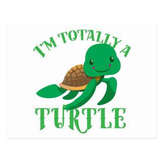 im totally a turtle postcard