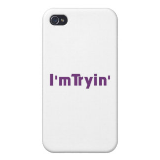 I'm Tryin' (purple edition) iPhone 4/4S Covers