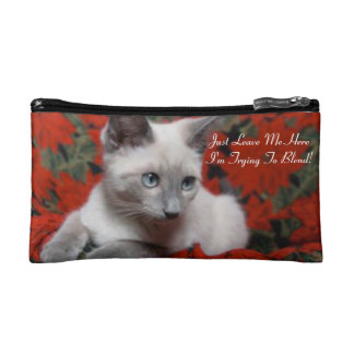 I'm Trying To Blend Kitten Cosmetic Bag