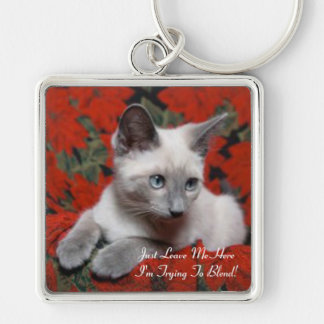 I'm Trying To Blend Kitten Keychain