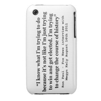 Im Trying To Change The Course Of History Ron Paul iPhone 3 Cover