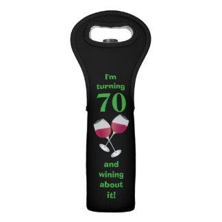 I'm turning 70 and wining about it, black wine bag