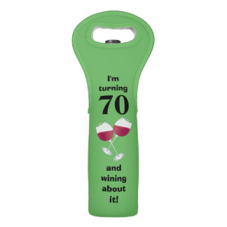 I'm turning 70 and wining about it wine bag