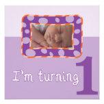 I'm Turning One Birthday Party Invitation