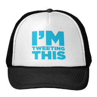 I'm Tweeting This Twitter Shirt Trucker Hat