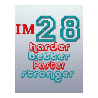 I'm Twenty Eight. Harder Better Faster Stronger! B Full Color Flyer