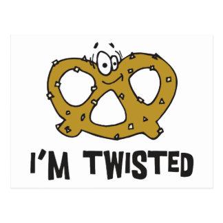 I'm Twisted Pretzel Postcard