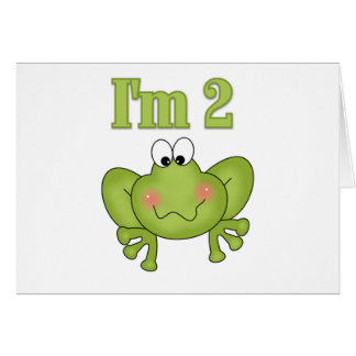 I'm Two-Green Frog Tshirts and Gifts Greeting Card