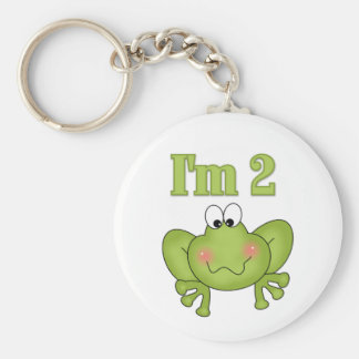 I'm Two-Green Frog Tshirts and Gifts Keychains
