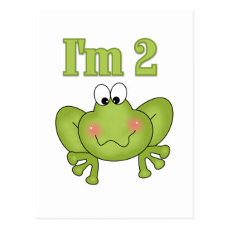 I'm Two-Green Frog Tshirts and Gifts Postcard