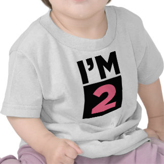 I'm Two Pink Second Birthday Shirt