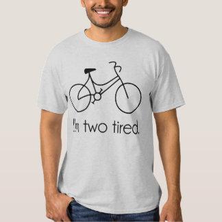 I'm Two Tired Too Tired Sleepy Bicycle Tee Shirt