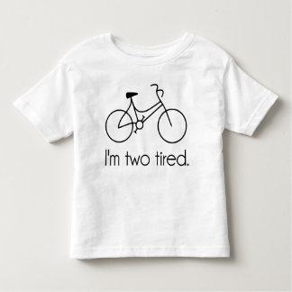 I'm Two Tired Too Tired Sleepy Bicycle Tshirts