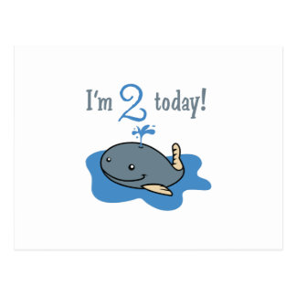 IM TWO TODAY POSTCARD
