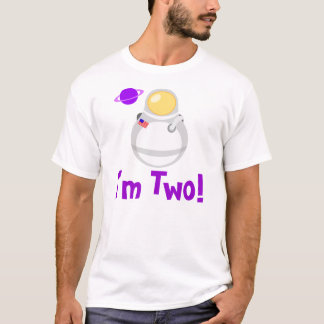 I'm Two Toddler Astronaut Tee Shirt Gift