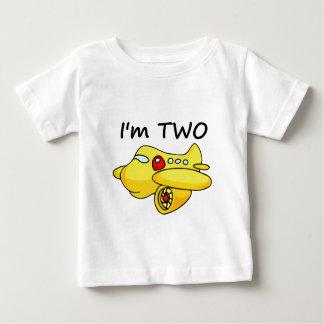I'm Two, Yellow Plane Baby T-Shirt