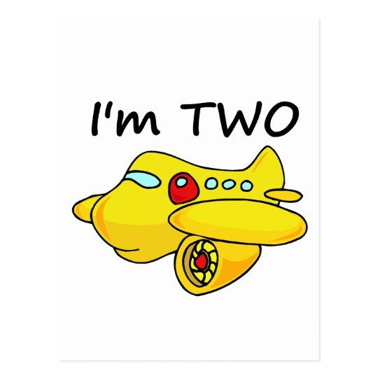 I'm Two, Yellow Plane Postcard
