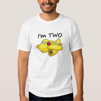 I'm Two, Yellow Plane T-Shirt