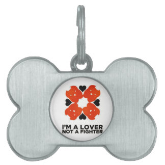Im un amante no una placa de identificación del co placa de nombre de mascota