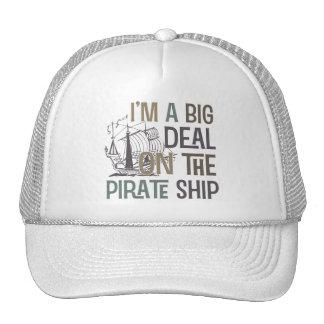 Im un barco pirata de la gran cosa junta con te lo gorros bordados