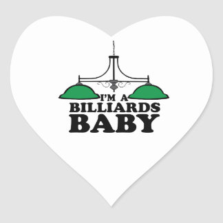 Im un bebé de los billares pegatina en forma de corazón