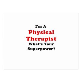 Im un terapeuta físico cuál es su superpotencia postal