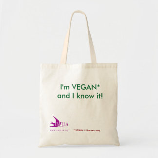 I'm VEGAN and I know it! Be sexy, be vegan! Tote Bag