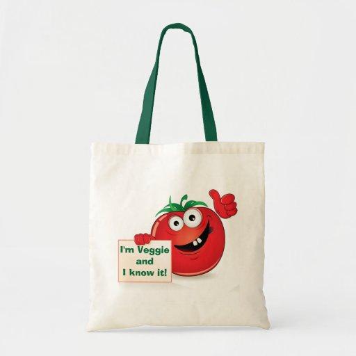 I'm Veggie and I know it! Tomato Budget Tote Bag