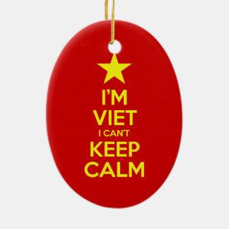I'm Viet I Can't Keep Calm Ceramic Ornament