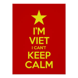 I'm Viet I Can't Keep Calm Poster