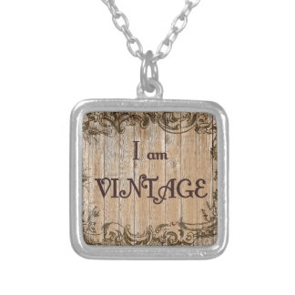 I'm Vintage Silver Plated Necklace