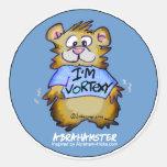I'm Vortexy Blue Round Sticker