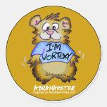 I'm Vortexy Gold Round Sticker