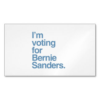 I'm voting for Bernie Sanders 2016 Magnetic Business Cards (Pack Of 25)