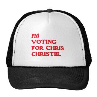 I'M VOTING FOR CHRIS CHRIST TRUCKER HAT