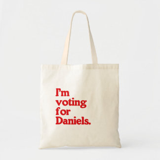 I'M VOTING FOR DANIELS BUDGET TOTE BAG