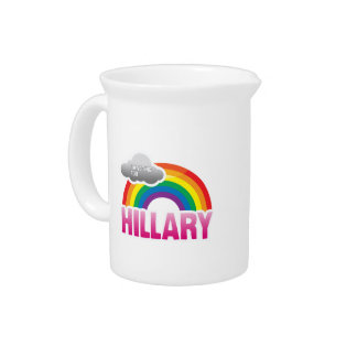I'M VOTING FOR HILLARY WITH PRIDE PITCHER