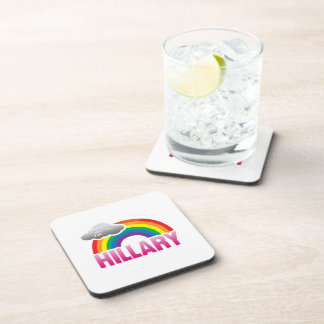 I'M VOTING FOR HILLARY WITH PRIDE -.png Beverage Coaster