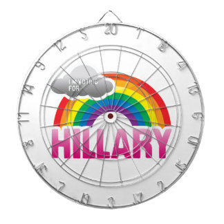 I'M VOTING FOR HILLARY WITH PRIDE -.png Dartboard