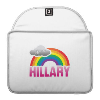 I'M VOTING FOR HILLARY WITH PRIDE -.png MacBook Pro Sleeve