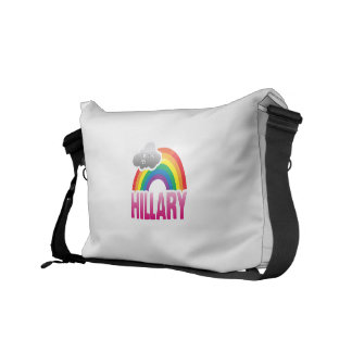 I'M VOTING FOR HILLARY WITH PRIDE -.png Messenger Bags