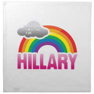 I'M VOTING FOR HILLARY WITH PRIDE -.png Printed Napkin