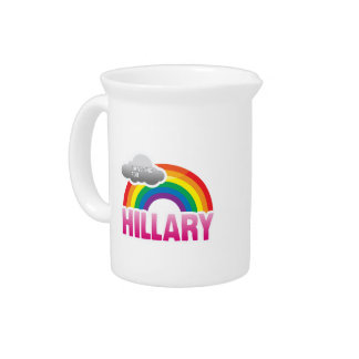 I'M VOTING FOR HILLARY WITH PRIDE -.png Beverage Pitchers
