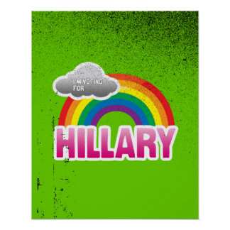 I'M VOTING FOR HILLARY WITH PRIDE -.png Posters