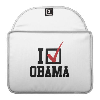 I'M VOTING FOR OBAMA -.png MacBook Pro Sleeve